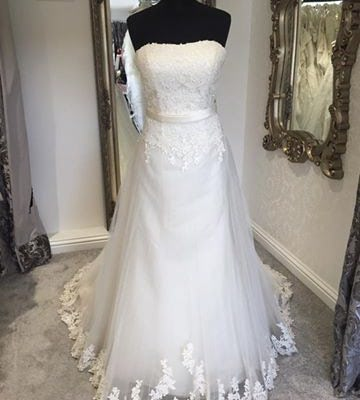 Fara Sposa Strapless Wedding Dress | £550