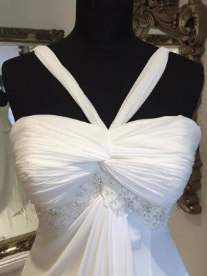 Chiffon dress – Size 12 dress – Evesham - 3