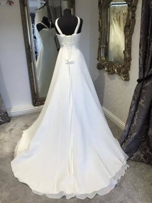 Chiffon dress – Size 12 dress – Evesham - 2