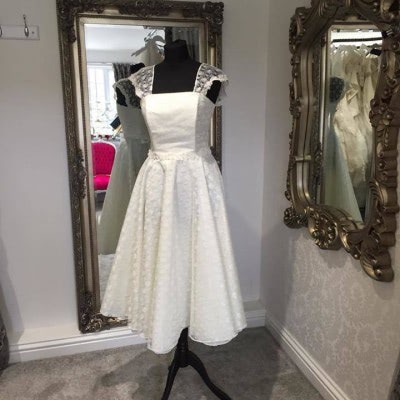 Tea Length Wedding Dress | £75