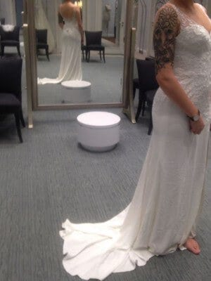 David's Bridal – Size 8 dress – Essex