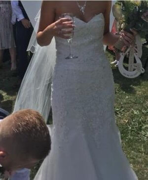 Mori Lee – Size 6 Fishtail dress | Second hand wedding dresses Tibshelf - 4