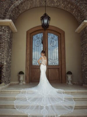 Galia Lahav – Size 6 Fishtail dress | Second hand wedding dresses Leicester - 9
