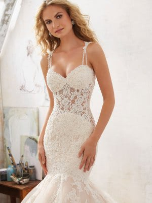 Mori Lee – Size 12 Fit and Flare dress | Second hand wedding dresses Chesterfield - 3