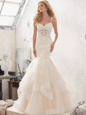 Mori Lee – Size 12 Fit and Flare dress | Second hand wedding dresses Chesterfield