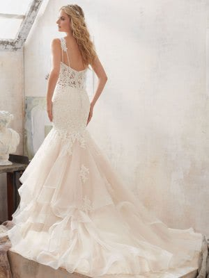 Mori Lee – Size 12 Fit and Flare dress | Second hand wedding dresses Chesterfield - 4