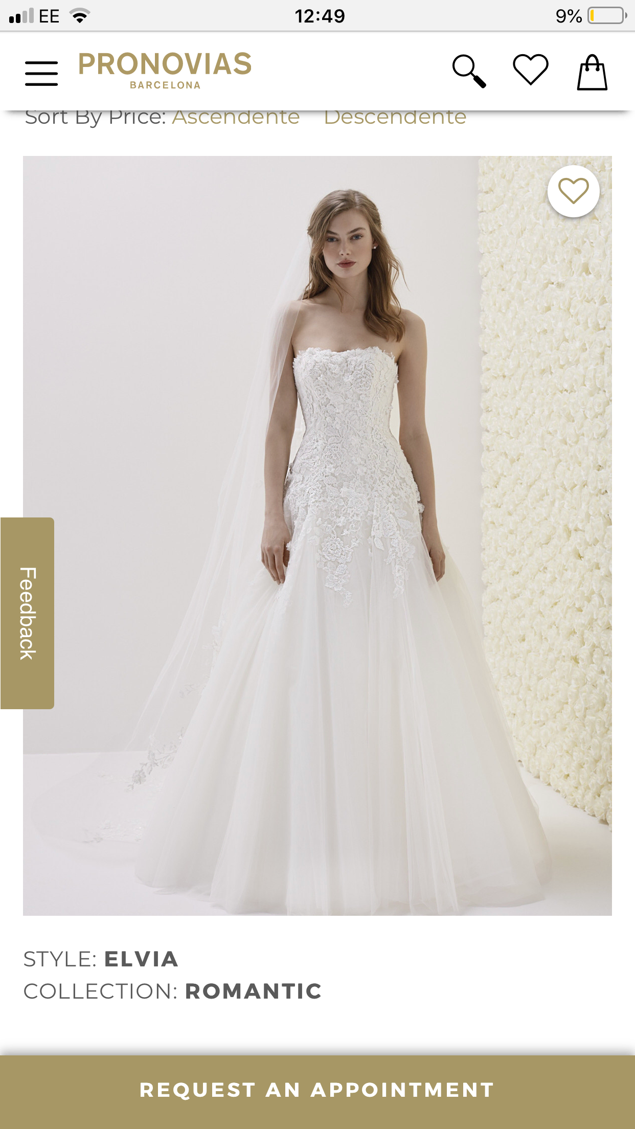 Pronovias – Size 14 A-Line dress | Second hand wedding dresses London - Size 14