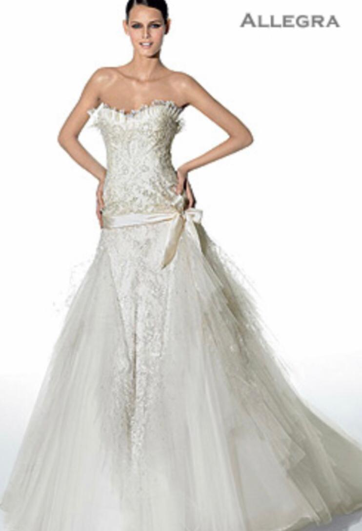 Elie Saab – Size 10 Strapless dress | Second hand wedding dresses London - Size 10